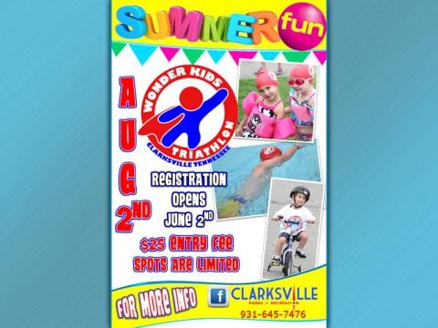 2nd Annual Wonder Kids Triathlon, August 2nd