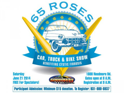Third Annual 65 Roses Car, Truck, and Bike Show coming Saturday, June 21st