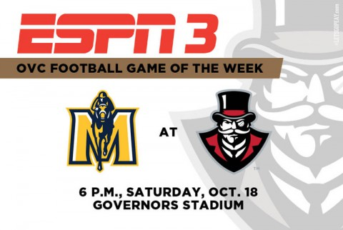 Austin Peay Governors vs. Racers to be broadcast on ESPN3. (APSU Sports Information)