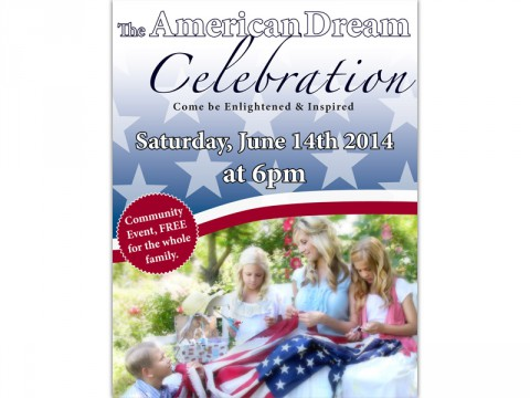 American Dream Celebration to be held Saturday, June 14th.