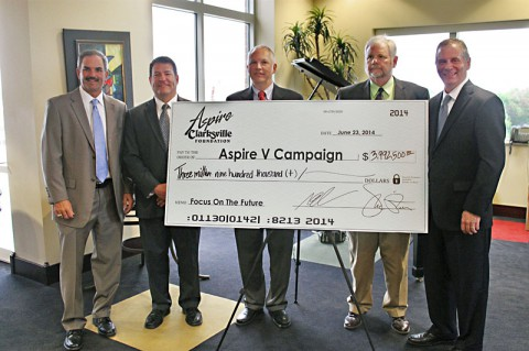 Aspire Clarksville Foundation raises nearly $4 million in pledges.