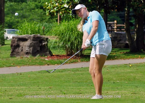 Clarksville's Samantha Gotcher prepares to compete at the U.S. Women's Open Golf Championship. (Michael Rios Clarksville Sports Network)
