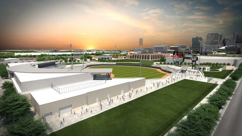 1st Base side view of First Tennessee Park