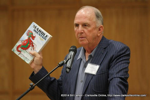 Author Bud Willis speaking at the 2014 Clarksville Writer's Conference