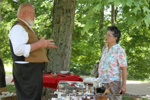 Mark Britton talks to Rebecca Hines about his civil war medicine display