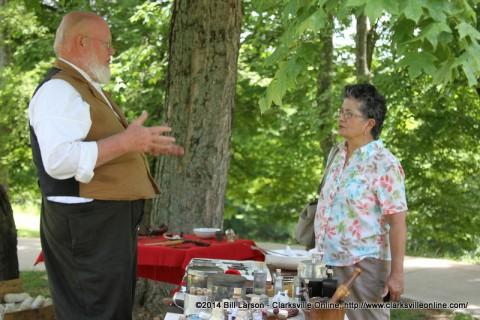 Mark Britton talks to Rebecca Hines about his civil war medicine display