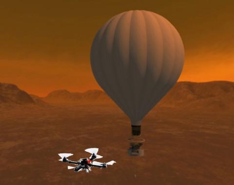Artist's concept of the Titan Aerial Daughtercraft. (NASA)