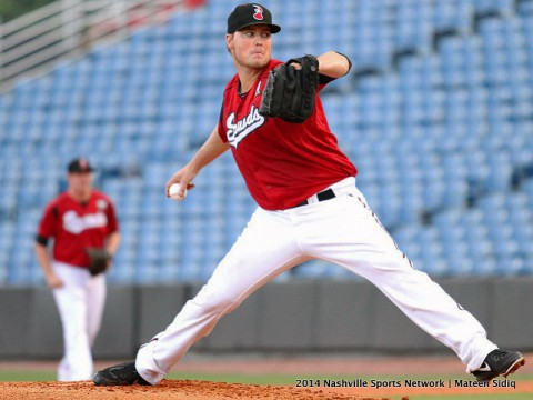 Jimmy Nelson gives 7 inning quality start for Nashville Sounds.