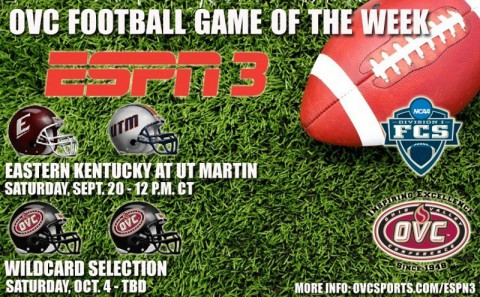 "OVC announces first two games of ESPN3 ""Game of the Week"" campaign. (OVC Sports Information)"