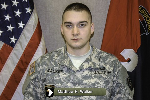 Pfc. Matthew H. Walker died in Afghanistan from wounds suffered from enemy fire.