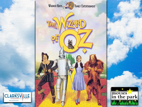 The Wizard of Oz playing this Saturday at Clarksville Parks and Recreation's Movies in the Park.