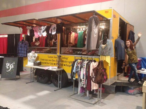 Tilted Kilt hosts the Sacer & Savive Fashion Truck on Wednesday night during Ladies Night