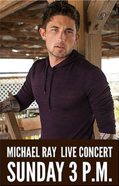 Michael Ray in concert.