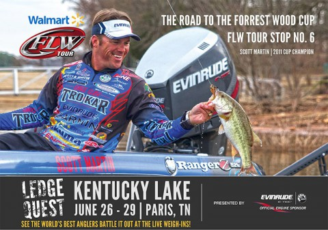 Walmart FLW Tour to hold final regular season fishing tournament at Paris Landing, June 26th-29th.
