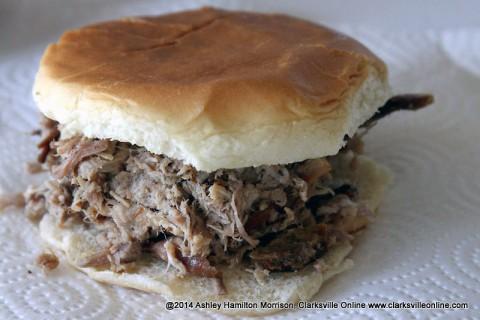 The famous Lone Oak Picnic Barbecue Sandwich.