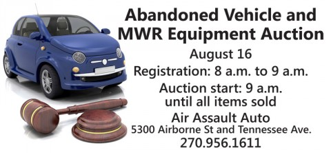 2014 Abandoned Vehicle and MWR Equipment Open Bid Auction