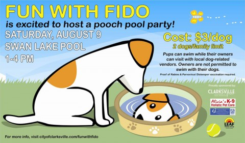 2014 Fun with Fido event series continues with Pooch Pool Party.