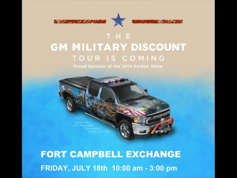 General Motors (GM) Military Discount Interactive Display Event