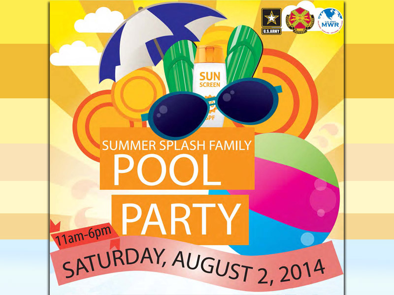 Fort campbell mwr summer splash family pool party for Gardner pool fort campbell