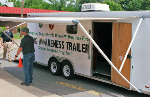 Kids and parents will have a chance to tour the 19th Judicial District Drug Task Force Drug Awareness trailer.