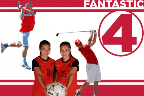 Athletes Tatiana Ariza, Natalia Ariza, Jasmin Ademovic and Anthony Bradley left quite a mark while at Austin Peay. (APSU Sports Information)