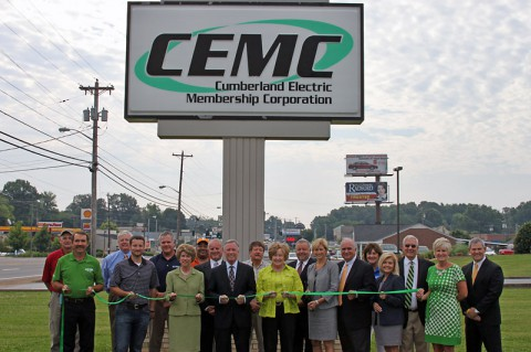 CEMC Clarksville-Montgomery County Green Certification Green Ribbon Cutting.