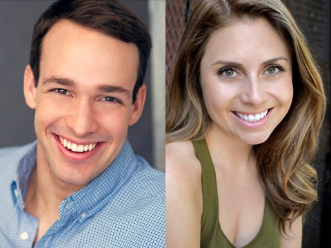 "Christopher Herr and Ashley Harris star in the Roxy Regional Theatre production of ""Grease""."