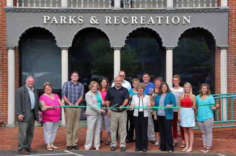 Clarksville Parks and Recreation Department green ribbon cutting ceremony.