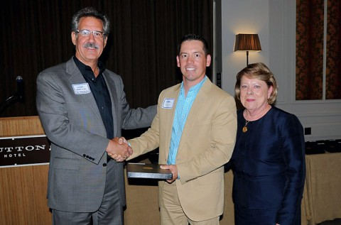 (L to R) Seab Tuck, immediate past LMT Board Chair; Frazier Allen, Financial Advisor/Assistant Vice President, F&M Bank; and Susan Taylor, immediate past executive director.