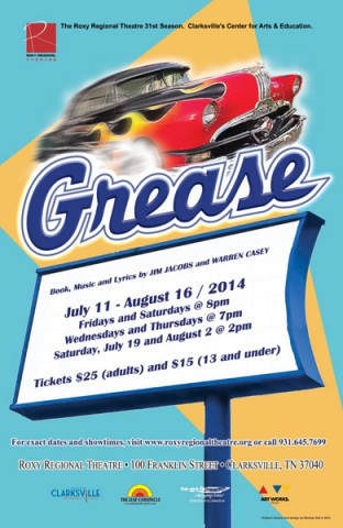Grease at Clarksville's Roxy Regional Theatre.