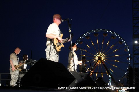 Cover Down on stage at the 2014 MWR Independence Day Carnival and fireworks display