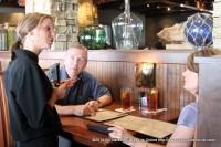 State Representative Joe Pitts listens to his server