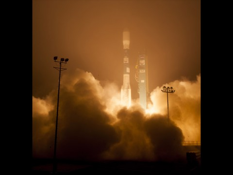 The Orbiting Carbon Observatory-2, NASA's first mission dedicated to studying carbon dioxide in Earth's atmosphere, lifts off from Vandenberg Air Force Base, California, at 2:56am Pacific Time, July 2, 2014. The two-year mission will help scientists unravel key mysteries about carbon dioxide. (NASA/Bill Ingalls)