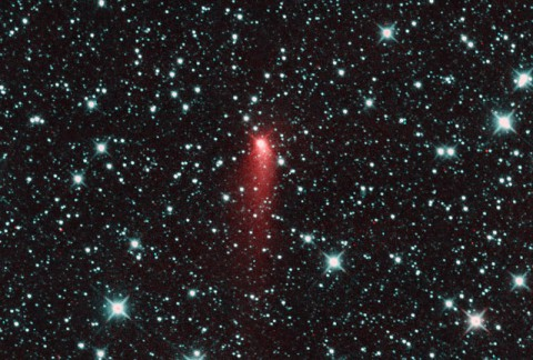 Comet C/2013 UQ4 (Catalina) appeared to be a highly active comet one day past perihelion on July 7, 2014. (NASA/JPL-Caltech)