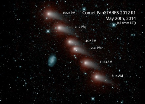 NASA's NEOWISE mission captured a series of infrared images of comet C/2012 K1 -- also referred to as comet Pan-STARRS -- as it swept across our skies in May 2014.
