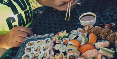 Kroger sushi isn't too bad in a pinch.