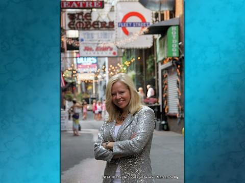 Sandee Gertz at Printers Alley in Nashville Tennessee.