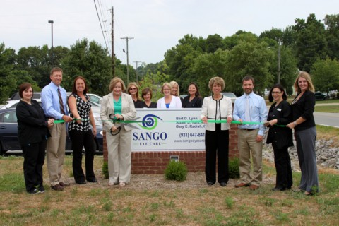Sango Eye Care's Clarksville-Montgomery County Green Ribbon Cutting