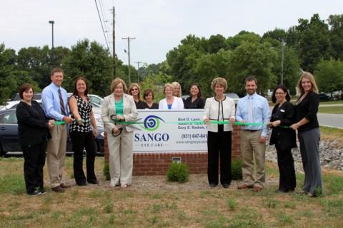 Sango Eye Care's Clarksville-Montgomery County Green Ribbon Cutting