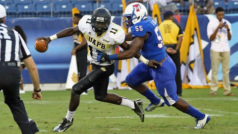 Former Northeast High School football player Anthony Bass crushing the competition for Tennessee State University (TSU Sports Information)