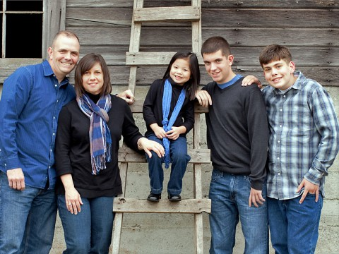 Whitaker Family, owners of Fresh Coat Painters in Clarksville.