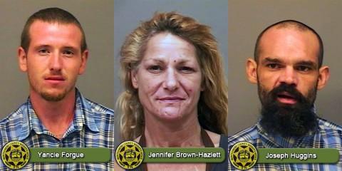 Yancie Forgue, Jennifer Brown-Hazlett and Joseph Huggins