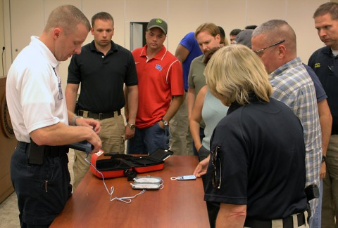 All Sheriff's Office staff is CPR trained and will receive updated training on the new AEDs this week.