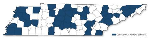 2014 Tennessee Reward School Counties