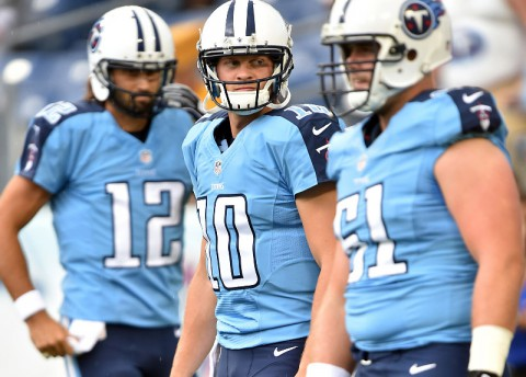 Tennessee Titans quarterback Jake Locker (10) will lead the Titans on the field Sunday against the Chiefs. (Don McPeak-USA TODAY Sports)