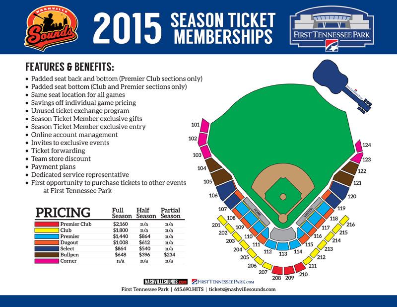 Nashville Sounds Unveil Seating Map Ticket Plans For