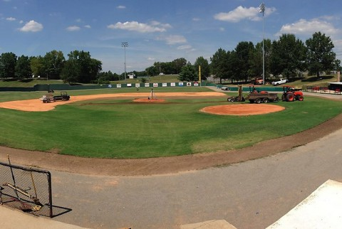 Austin Peay's Raymond C. Hand Park playing field is being improved. (APSU Sports Information)