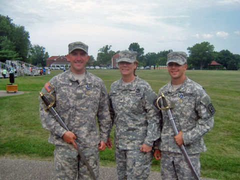 APSU ROTC Cadets Ryan Krause, Kristin Coughenour and Sean Frazzini were recognized as outstanding ROTC cadets during last month's Leader Development and Assessment Course (LDAC) at Fort Knox, KY.