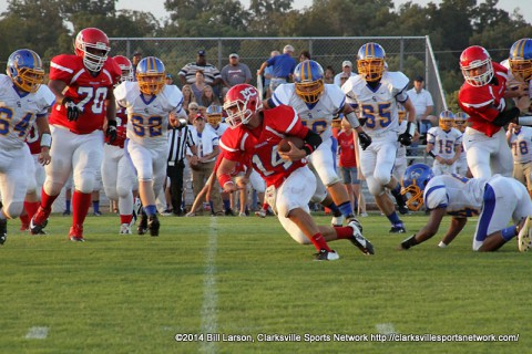Montgomery Central Indians beats Clarksville Academy 14-13 Thursday night.