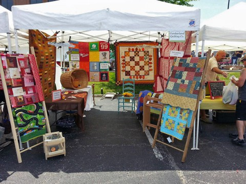 Cumberland Quilting Company at the Clarksville Downtown Market.